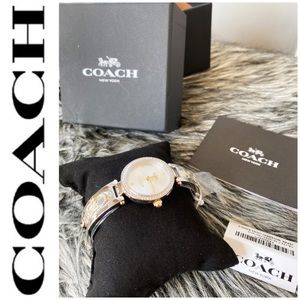 NWT authentic Coach silver watch